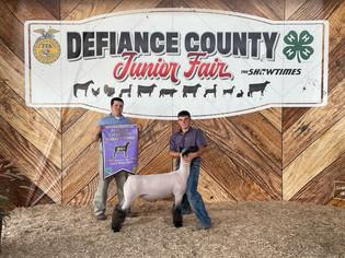 Luke Schroeder, Reserve Champion Market Lamb, Defiance County Fair 2021.jpeg
