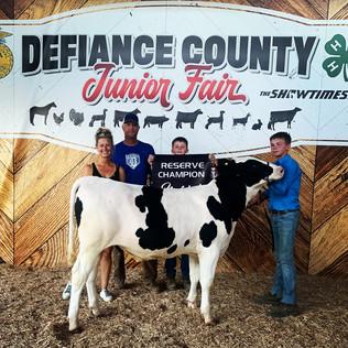 Luke Webb, Reserve Grand Champion Dairy Feeder, Defiance County Jr. Fair 2021