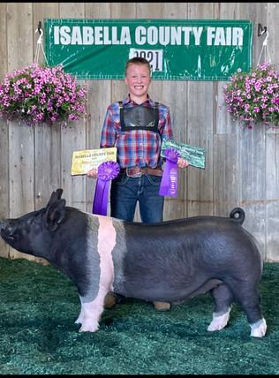 Joseph Endres, Supreme Champion Hog, Isabella County Fair 2021.jpeg