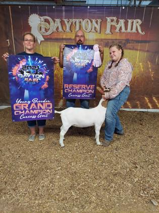 Aurora Buterbaugh, Reserve Grand Champion Carcass Goat, Armstrong County Fair 2021