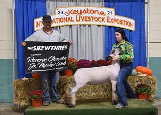 Kenzie Stadtmiller, Reserve Champion Market Lamb, Keystone International Livestock Expo 20