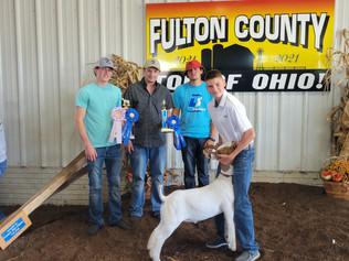 Cooper Stambaugh, Reserve Grand Champion Market Goat, Fulton County Fair 2021