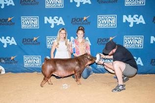 Jackson Johnson and Family, National Swine Registry