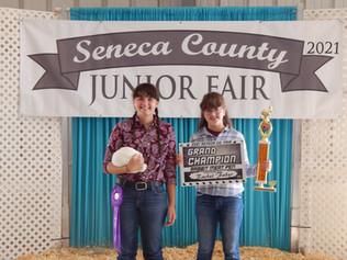 Rachel Faber, Grand Champion Rabbit, Seneca County Jr Fair