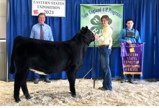 Riley Mahaffey, Grand Champion Heifer, Eastern States Exposition 2021.jpeg