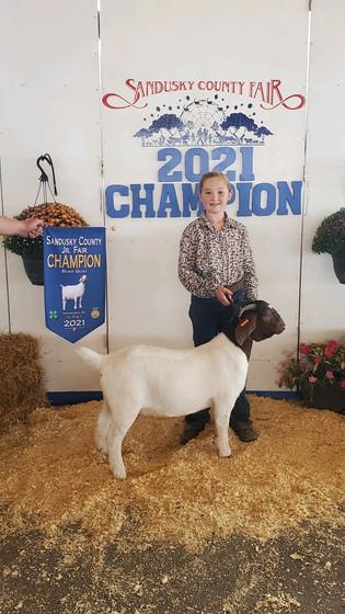 Haper Bennett, Champion Boer Goat, Sandusky County Fair 2021.jpeg
