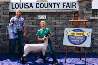 Cade Storm, Grand Champion Lamb, Louisa County Fair