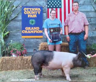 Jake Van Kampen, Grand Champion Pig, Ottawa County Fair 2021