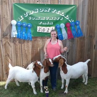 Jenna Timmer, Grand Champion Breeding Boer Doe, Hudsonville Community Fair 2021