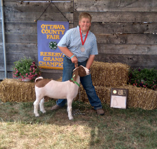 Joe Van Kampen, Reserve Grand Champion Market Goat, Ottawa County Fair 2021