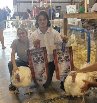 Brad Stephens, Grand & Reserve Grand Champion Turkeys, Monroe County Fair 2021