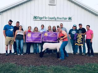 Grace Williams, Grand Champion Lamb, Fayette County Free Fair