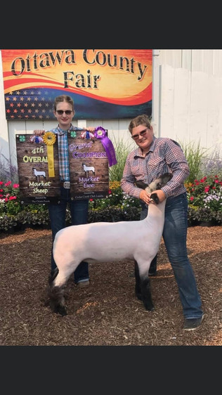 Lyla Sprague, Grand Champion Lamb, Ottawa County Fair