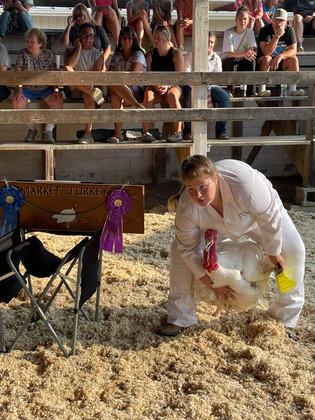 Cheyann Shaffer, Grand Champion Turkey, Athens County Fair