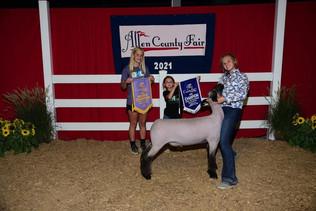 Cara Schwartz, Reserve Grand Champion Lamb, Allen County Fair