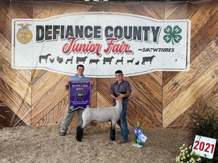Luke Schroeder, Supreme Breeding Ewe, Defiance County Fair 2021.jpeg