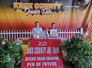 Isabella Byler, Reserve Grand Champion Rabbit, Knox County Jr Fair
