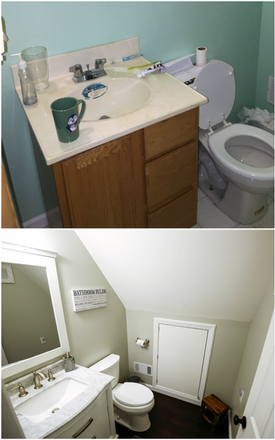 lookout second floor bath before and aft
