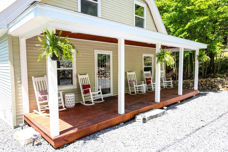 Lakefront Lookout Front Porch