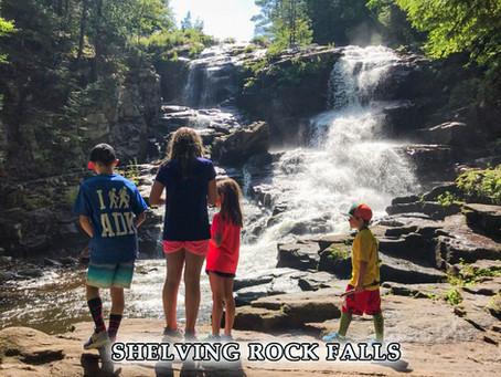 Shelving Rock Falls Hike on Lake George