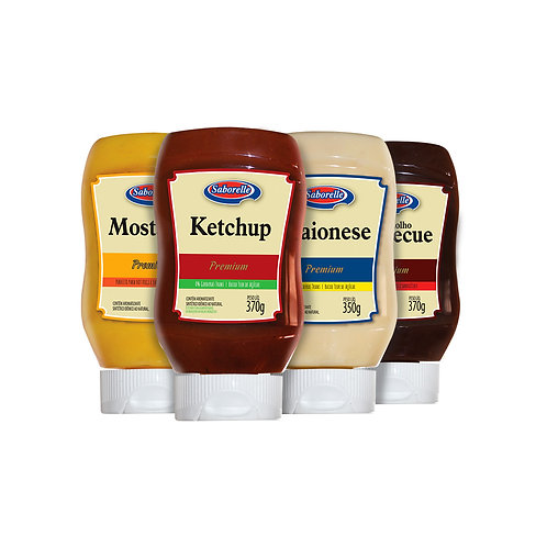 Linha Premium - Ketchup, Mostarda, Maionese e Barbecue