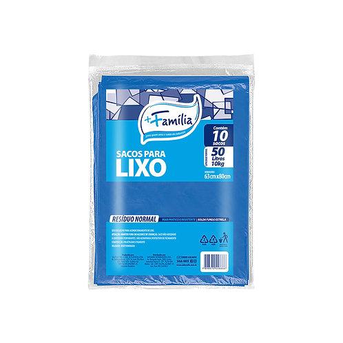 Sacos para lixo em envelope (azul) 50L / 10Kg