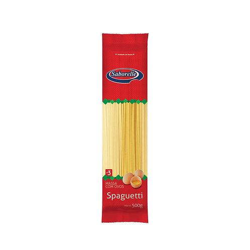 Macarrão Spaguetti nº 03 - 500g (Embal. Plástica)