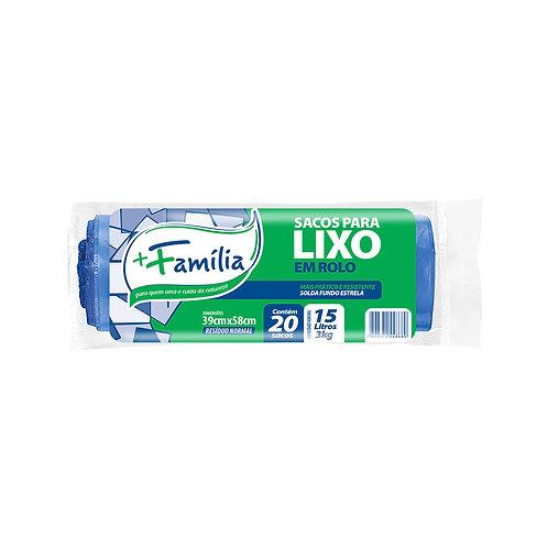 Sacos para lixo em Rolo (azul) - 15L / 3Kg