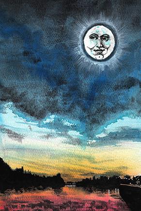 Moon over Putney