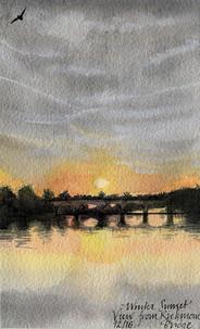 Winter Sunset over Richmond Bridge