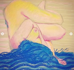 Sketch of nude model