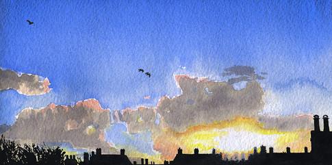Dawn over Hackney Rooftops