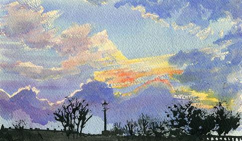 Twilight over Richmond Bridge