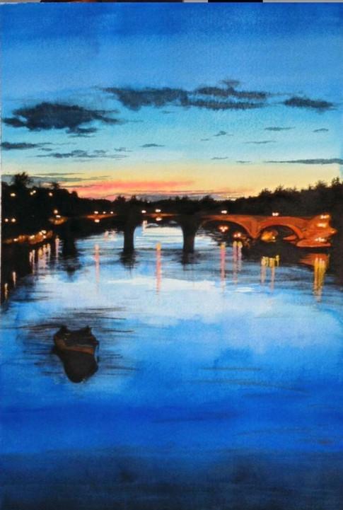 Sunset over Richmomnd Riverside