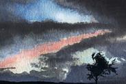 Last Light over Dorset Hilltop