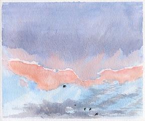 Pink Sky over Dorset
