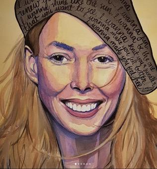 Joni Mitchell portrait