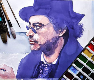 Painting of Robert Downey Jnr