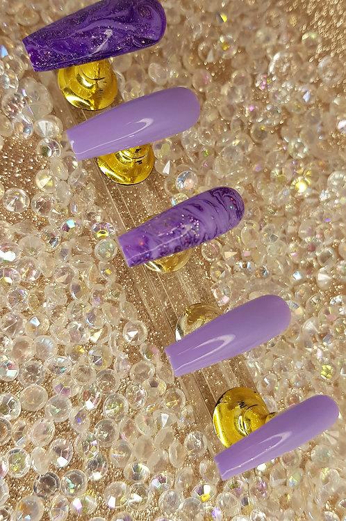 """Custom Nail Set """"Lavender"""""""