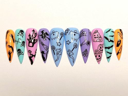 "Custom nail set "" Spooky Girl"""