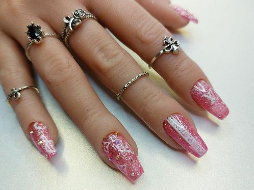 "Custom nail set ""The Simple Life"""