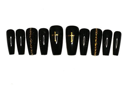 "Custom nail set 'Gothic"""