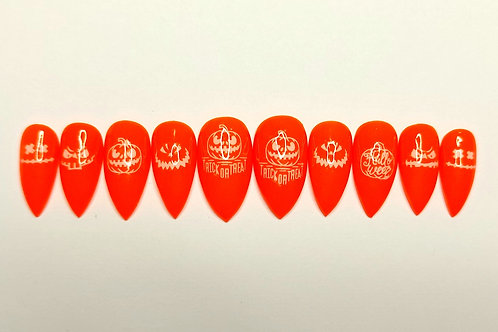 "Custom nail set ""Picking Pumpkins"""