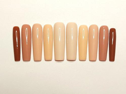 """Custom nail set """" Send Nudes"""""""