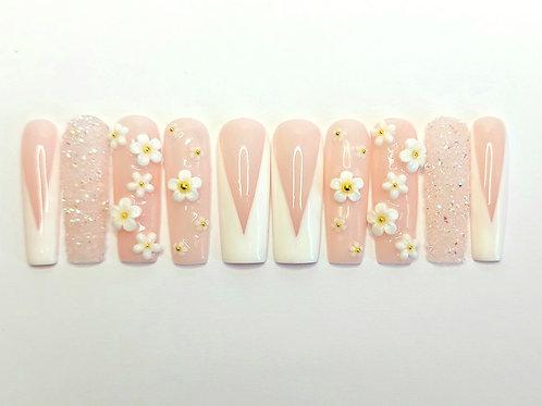 """Custom nail set """"Bridesmaid"""""""