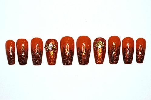 """Custom nail set """"Spidey"""""""