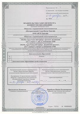 Лицензия ООО ИСЦ Триумф