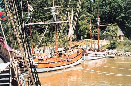Jamestown-Virginia-settlement-ships-NOAA