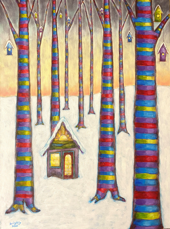 Treehouses in winter