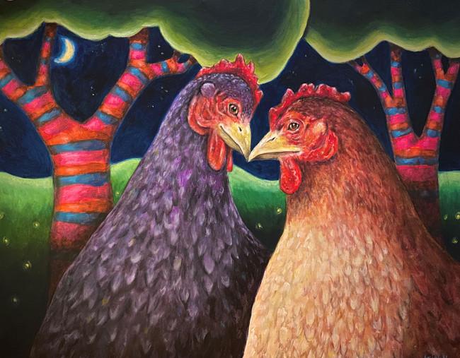 Old Hens In Love
